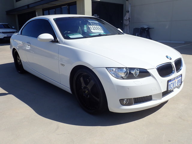 Used BMW 335i E93 Wangara, 2008 BMW 335i E93 Alpine White 6 Speed Auto Steptronic Convertible