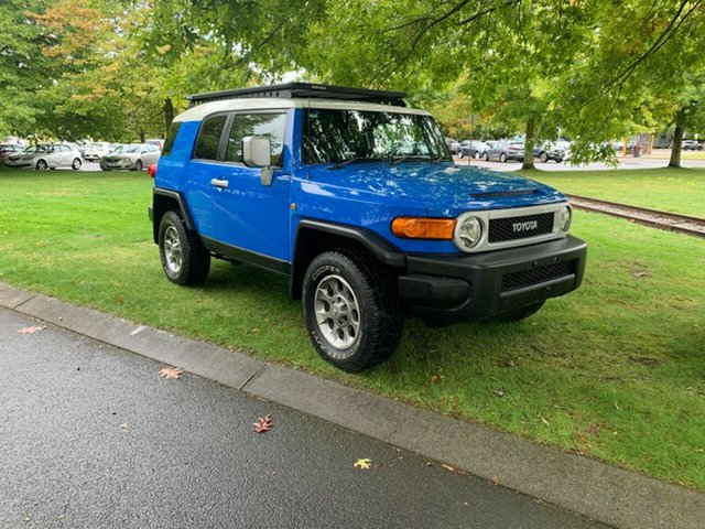 Used Toyota FJ Cruiser GSJ15R Launceston, 2011 Toyota FJ Cruiser GSJ15R Blue 5 Speed Automatic Wagon