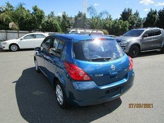 2007 Nissan Tiida C11 MY07 ST Blue 4 Speed Automatic Hatchback