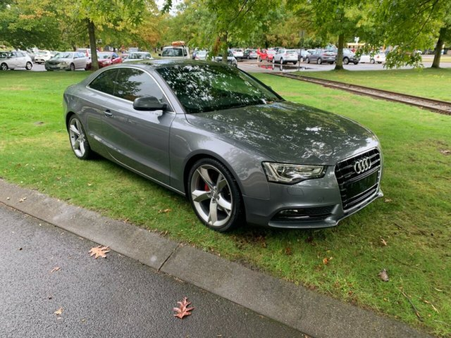 Used Audi A5 8T MY13 S Tronic Quattro Launceston, 2013 Audi A5 8T MY13 S Tronic Quattro Silver 7 Speed Sports Automatic Dual Clutch Coupe