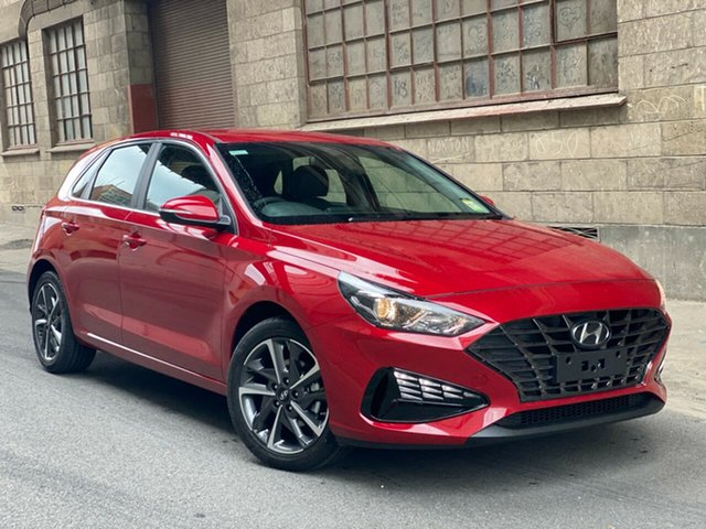 Demo Hyundai i30 PD.V4 MY21 Active Cheltenham, 2020 Hyundai i30 PD.V4 MY21 Active Fiery Red 6 Speed Automatic Hatchback