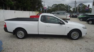 2010 Ford Falcon FG Ute Super Cab White 4 Speed Sports Automatic Utility.