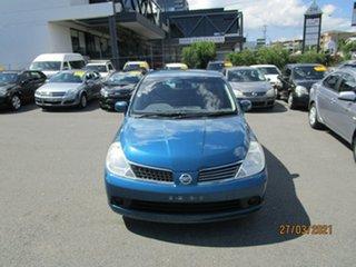 2007 Nissan Tiida C11 MY07 ST Blue 4 Speed Automatic Hatchback.