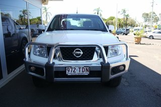 2012 Nissan Navara D40 S6 MY12 ST White 5 Speed Sports Automatic Utility