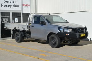 2015 Toyota Hilux TGN121R Workmate 4x2 Silver 5 Speed Manual Cab Chassis.