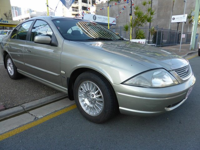 Used Ford Falcon AUIII SR Southport, 2002 Ford Falcon AUIII SR Gold 4 Speed Automatic Sedan