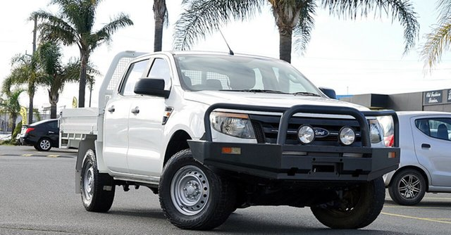 Used Ford Ranger PX XL Cheltenham, 2012 Ford Ranger PX XL White 6 Speed Manual Cab Chassis