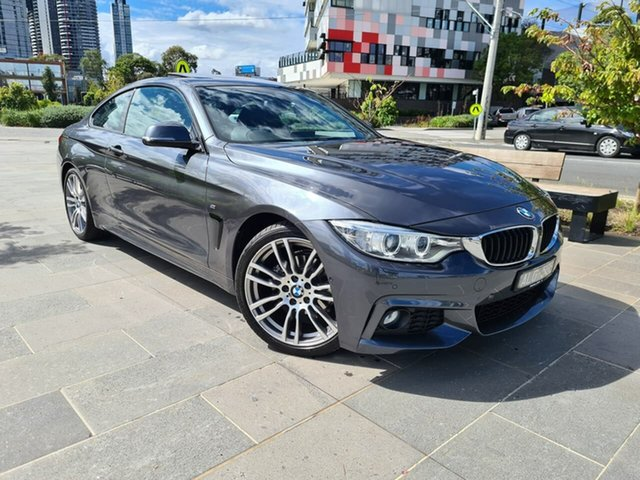 Used BMW 4 Series F32 420i M Sport South Melbourne, 2016 BMW 4 Series F32 420i M Sport Grey 8 Speed Sports Automatic Coupe