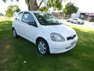 2000 Toyota Echo NCP10R White 5 Speed Manual Hatchback.