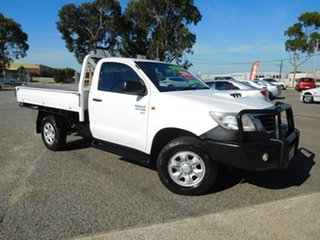 2012 Toyota Hilux KUN26R MY12 SR White 5 Speed Manual Cab Chassis.
