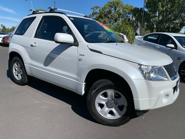 Used Suzuki Grand Vitara JB MY09 Bunbury, 2009 Suzuki Grand Vitara JB MY09 Pearl White 5 Speed Manual Wagon