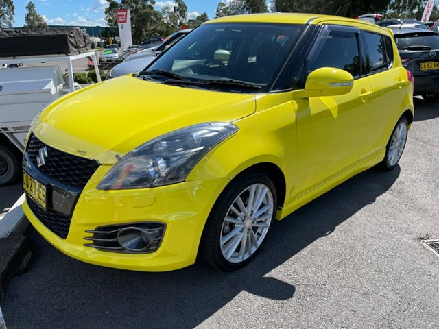 Used Suzuki Swift FZ MY15 Sport Maitland, 2015 Suzuki Swift FZ MY15 Sport Yellow 6 Speed Manual Hatchback