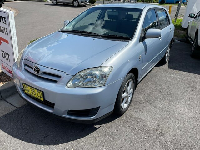 Used Toyota Corolla ZZE122R 5Y Conquest Maitland, 2005 Toyota Corolla ZZE122R 5Y Conquest Silver 4 Speed Automatic Hatchback