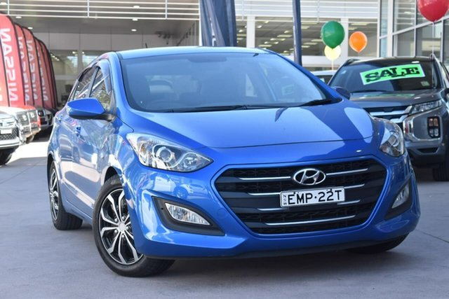 Used Hyundai i30 GD3 Series II MY16 Active Blacktown, 2015 Hyundai i30 GD3 Series II MY16 Active Blue 6 Speed Manual Hatchback