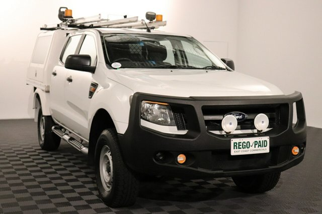 Used Ford Ranger PX XL Acacia Ridge, 2012 Ford Ranger PX XL White 6 speed Automatic Cab Chassis