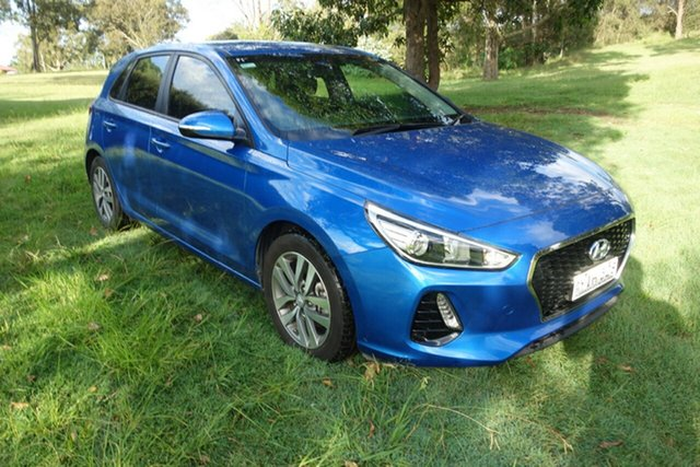Used Hyundai i30 PD MY18 Active East Maitland, 2018 Hyundai i30 PD MY18 Active Blue 6 Speed Sports Automatic Hatchback