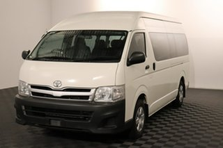 2012 Toyota HiAce TRH223R MY11 Commuter High Roof Super LWB French Vanilla 4 speed Automatic Bus.