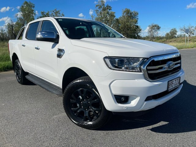Used Ford Ranger PX MkIII 2020.75MY XLT Emerald, 2020 Ford Ranger PX MkIII 2020.75MY XLT Arctic White 6 Speed Sports Automatic Double Cab Pick Up