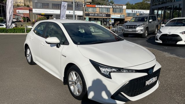 Used Toyota Corolla ZWE211R Ascent Sport E-CVT Hybrid Brookvale, 2018 Toyota Corolla ZWE211R Ascent Sport E-CVT Hybrid White 10 Speed Constant Variable Hatchback
