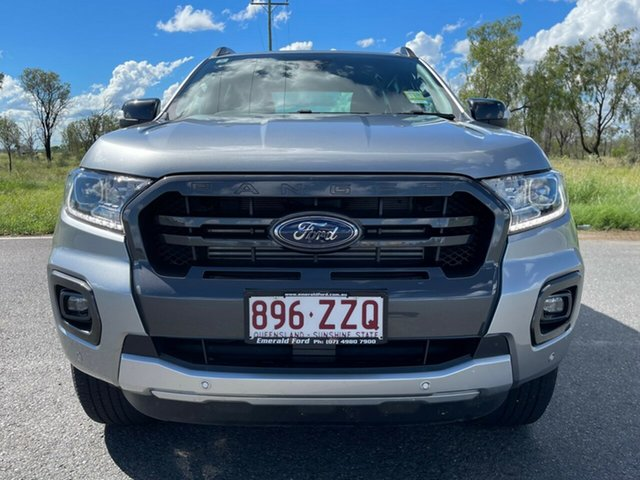 Used Ford Ranger PX MkIII 2020.75MY Wildtrak Emerald, 2020 Ford Ranger PX MkIII 2020.75MY Wildtrak Aluminium 10 Speed Sports Automatic Double Cab Pick Up