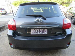 2009 Toyota Corolla ZRE152R Conquest Grey 6 Speed Manual Hatchback.