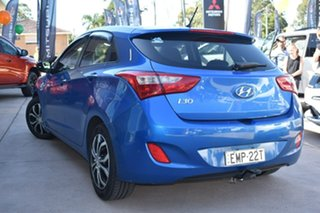 2015 Hyundai i30 GD3 Series II MY16 Active Blue 6 Speed Manual Hatchback.