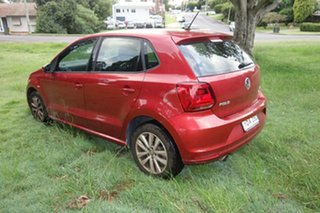 2015 Volkswagen Polo 6R MY15 81TSI DSG Comfortline Red 7 Speed Sports Automatic Dual Clutch.