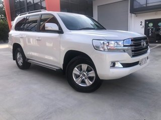 2020 Toyota Landcruiser VDJ200R GXL White 6 Speed Sports Automatic Wagon.