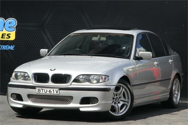 Used BMW 3 Series E46 MY2002 318i Steptronic Campbelltown, 2003 BMW 3 Series E46 MY2002 318i Steptronic Silver 5 Speed Sports Automatic Sedan