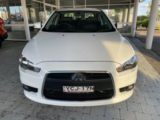 2015 Mitsubishi Lancer ES - Sport White Constant Variable Sedan.