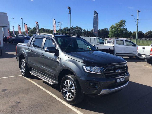 Pre-Owned Ford Ranger PX MkII 2018.00MY Wildtrak Double Cab Cardiff, 2018 Ford Ranger PX MkII 2018.00MY Wildtrak Double Cab Grey 6 Speed Manual Utility