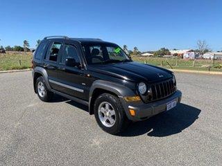 2006 Jeep Cherokee KJ MY05 Upgrade Sport (4x4) Onyx Black 4 Speed Automatic Wagon.