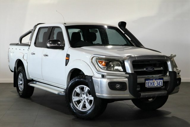 Used Ford Ranger PK XLT Crew Cab Bayswater, 2010 Ford Ranger PK XLT Crew Cab White 5 Speed Manual Utility
