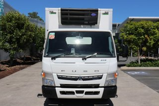 2019 Mitsubishi Fuso Canter White Automatic Refrigerated Truck.