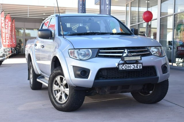 Used Mitsubishi Triton MN MY13 GLX Double Cab Blacktown, 2013 Mitsubishi Triton MN MY13 GLX Double Cab Silver 5 Speed Manual Utility