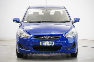 2013 Hyundai Accent RB Active Blue 5 Speed Manual Sedan.