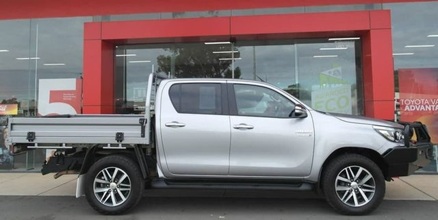 Used Toyota Hilux GUN126R SR5 Double Cab Swan Hill, 2016 Toyota Hilux GUN126R SR5 Double Cab Silver 6 Speed Sports Automatic Utility