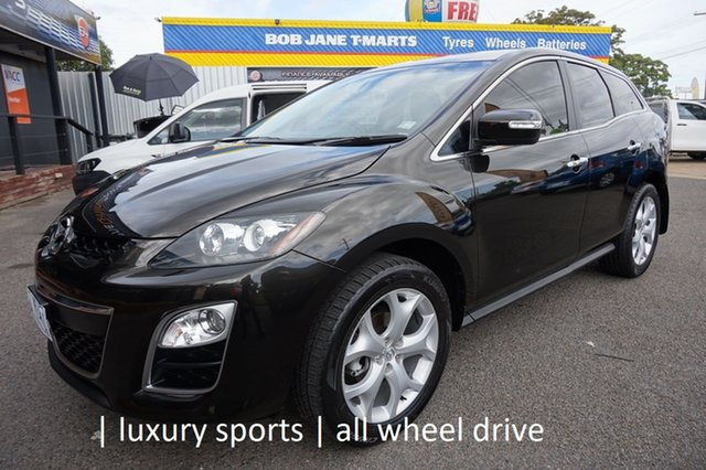 Used Mazda CX-7 ER1032 Luxury Activematic Sports Dandenong, 2011 Mazda CX-7 ER1032 Luxury Activematic Sports Sparkling Black 6 Speed Sports Automatic Wagon
