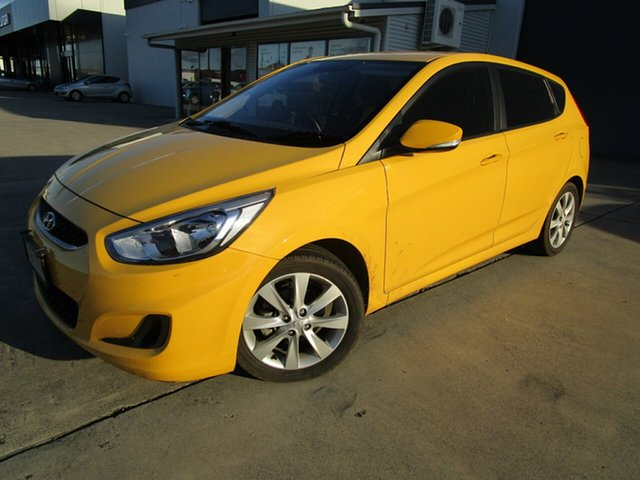 Used Hyundai Accent RB6 MY18 Sport Caboolture, 2018 Hyundai Accent RB6 MY18 Sport Yellow 6 Speed Manual Hatchback