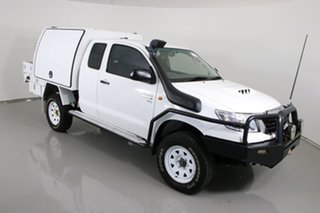 2014 Toyota Hilux KUN26R MY14 SR (4x4) White 5 Speed Manual X Cab Cab Chassis