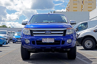 2013 Ford Ranger PX XLS Double Cab Blue 6 Speed Manual Utility.