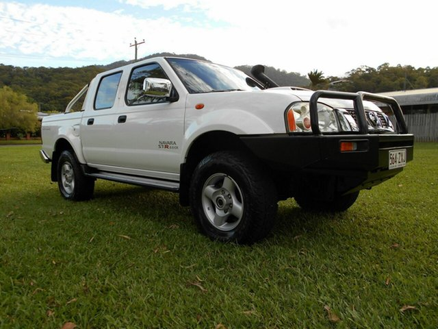 Used Nissan Navara D22 MY08 ST-R (4x4) Bungalow, 2011 Nissan Navara D22 MY08 ST-R (4x4) White 5 Speed Manual Dual Cab Pick-up