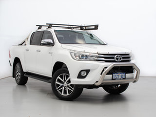 2016 Toyota Hilux GGN125R SR5 (4x4) White 6 Speed Automatic Dual Cab Utility.