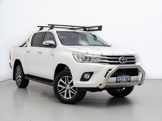 Used Toyota Hilux GGN125R SR5 (4x4), 2016 Toyota Hilux GGN125R SR5 (4x4) White 6 Speed Automatic Dual Cab Utility