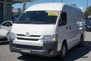 2017 Toyota HiAce KDH221R High Roof Super LWB White 4 Speed Automatic Van