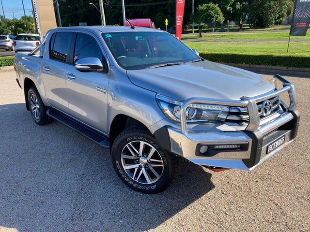 Used Toyota Hilux GUN126R SR5 Double Cab South Grafton, 2016 Toyota Hilux GUN126R SR5 Double Cab Silver Sky 6 Speed Sports Automatic Utility