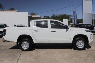 2021 Mitsubishi Triton MR MY21 GLX Double Cab ADAS White 6 Speed Sports Automatic Utility