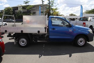 2015 Toyota Hilux TGN121R Workmate 4x2 Blue 5 Speed Manual Cab Chassis.