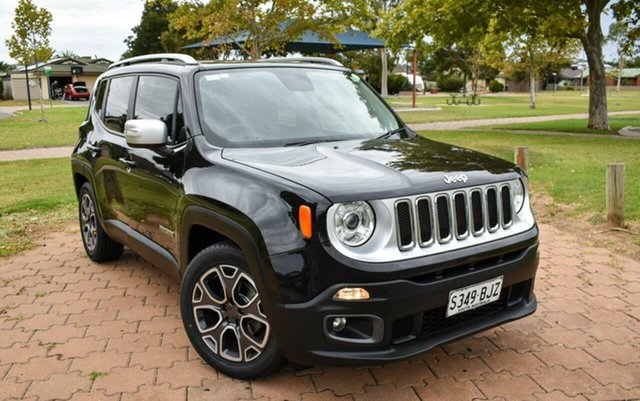 Used Jeep Renegade BU MY15 Limited DDCT Ingle Farm, 2015 Jeep Renegade BU MY15 Limited DDCT Blak/leather 6 Speed Sports Automatic Dual Clutch Hatchback
