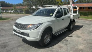 2017 Mitsubishi Triton MQ MY17 GLX Double Cab White 5 Speed Sports Automatic Cab Chassis.